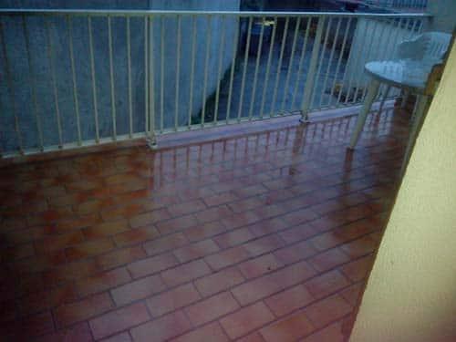 balcon nettoyé